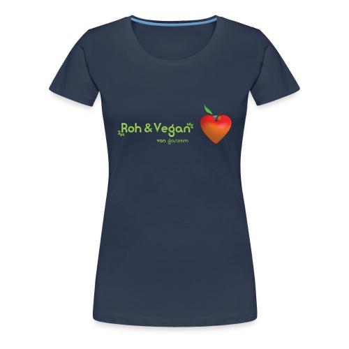 Roh & Vegan rotes Apfelherz (Rohkost) - Frauen Premium T-Shirt