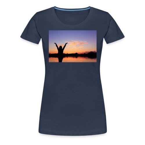 Praise, Vrijheid, Zonsondergang Pruduct - Vrouwen Premium T-shirt