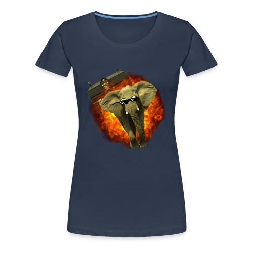 olifant op avontuur - Vrouwen Premium T-shirt