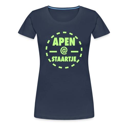 Apenstaartje Merchandise 2 png - Vrouwen Premium T-shirt