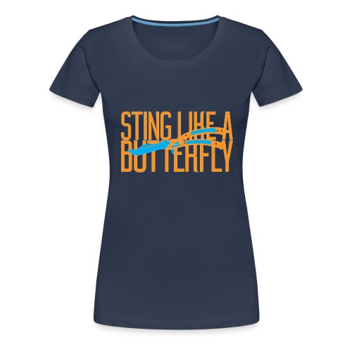 stinglikeabutterfly orange png - Women's Premium T-Shirt