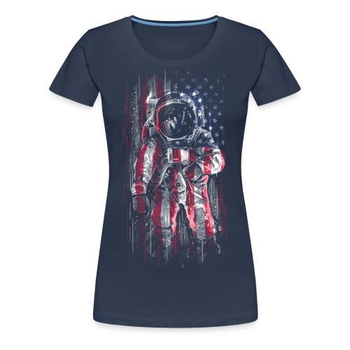 Astronaut Flag - Women's Premium T-Shirt