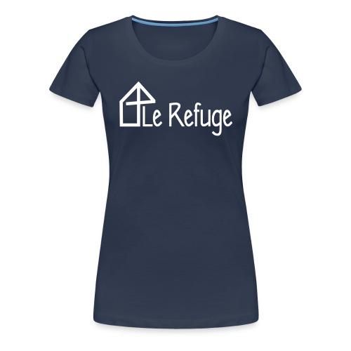 LOGO LE REFUGE complet - T-shirt Premium Femme