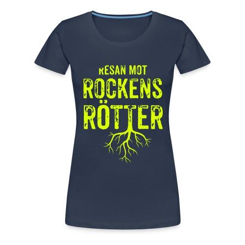 Fotbollströja svart. Resan mot rockens rötter. - Premium-T-shirt dam