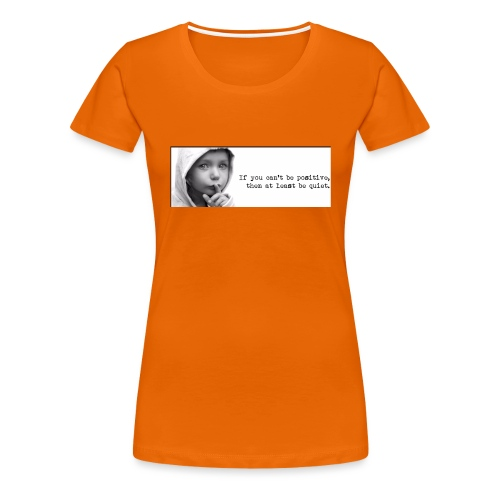 quiet - Vrouwen Premium T-shirt