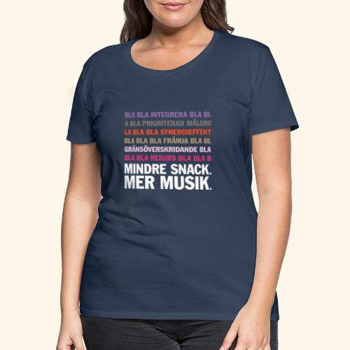 bla bla bla 2012 spring colors - Premium-T-shirt dam