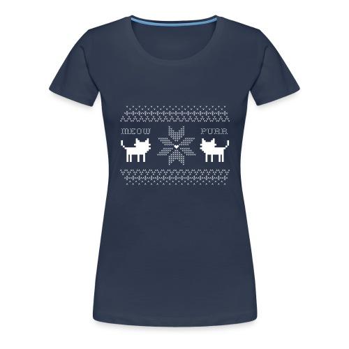 Christmas Cats - Camiseta premium mujer