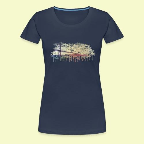 | Almada Brücke Palmen | - Frauen Premium T-Shirt