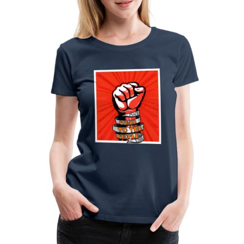 Peace, Power to the people, love, fist pump - Women's Premium T-Shirt