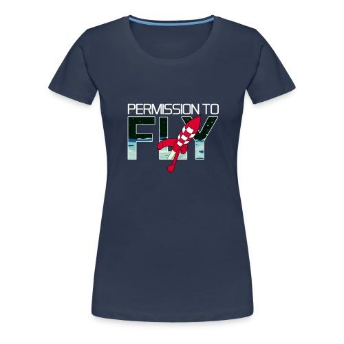 Permission To Fly Rocket - Women's Premium T-Shirt