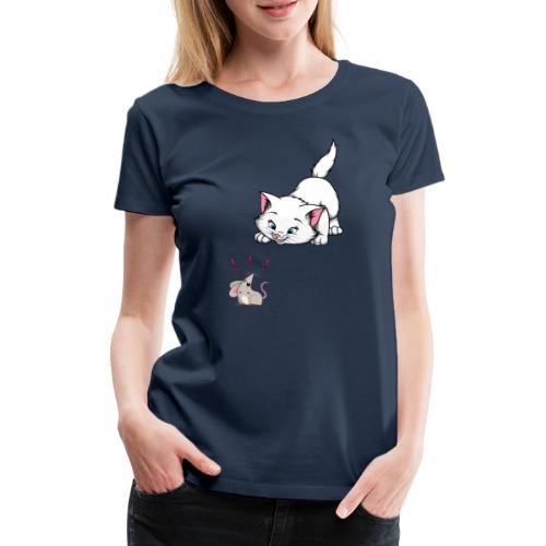 Katze und Maus Achtung Katze - Frauen Premium T-Shirt