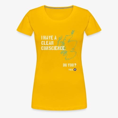Clear Conscience - Women's Premium T-Shirt