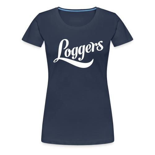 Loggers 1 color logo - Premium T-skjorte for kvinner