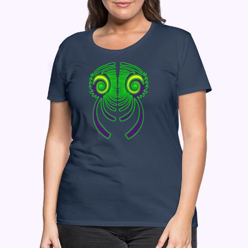 Fractal Dragon 3 color 2 - Camiseta premium mujer