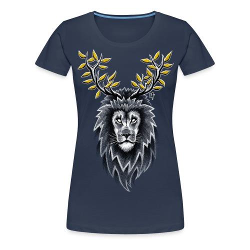 Deer Lion - Women's Premium T-Shirt