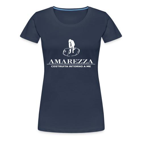 AMAREZZA-LOGO-BIANCO - Maglietta Premium da donna