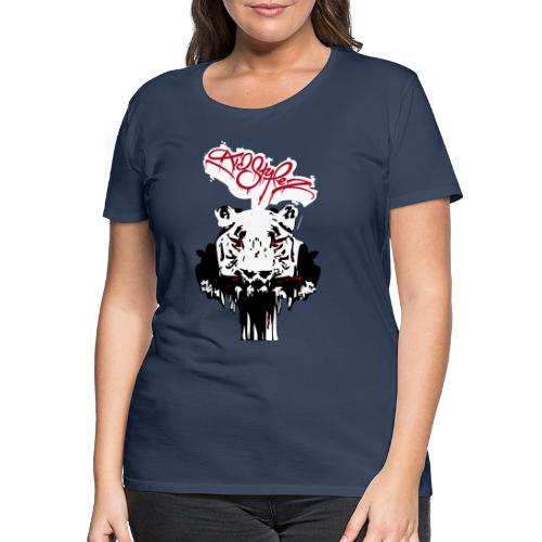Tiger Samtig Weich - Frauen Premium T-Shirt
