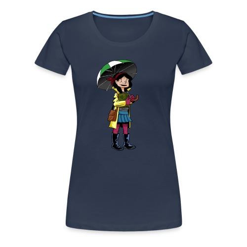 Chica con Paraguas - Camiseta premium mujer