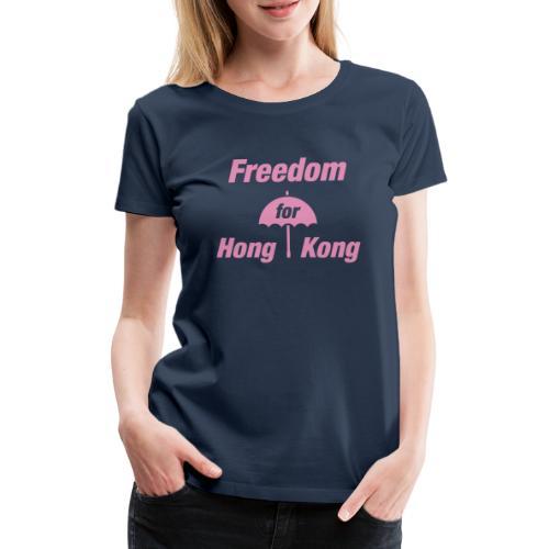 Freedom for Hong Kong   Umbrella Pink - Frauen Premium T-Shirt