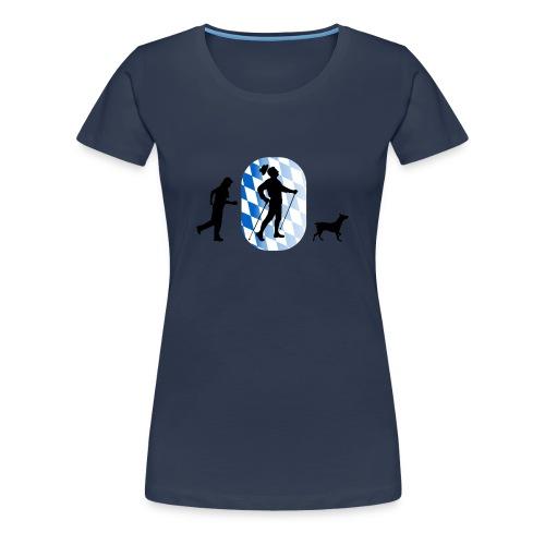 bayrischer nordic walker - Frauen Premium T-Shirt