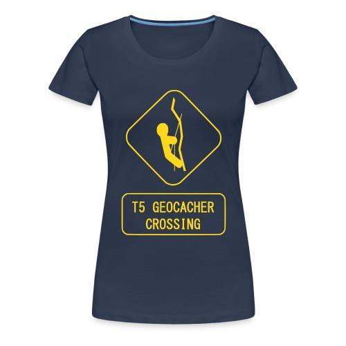 T5 Geocacher Crossing 4 - Frauen Premium T-Shirt
