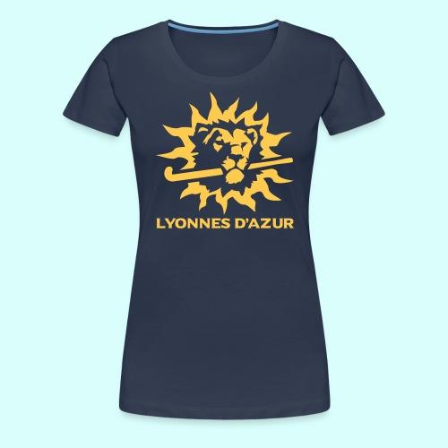 Lyonnes d azur 2 couleurs - T-shirt Premium Femme