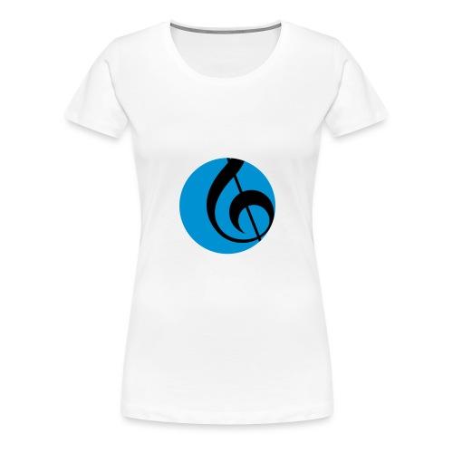 SNJ HVIT TEKST TURKIS SIR - Premium T-skjorte for kvinner