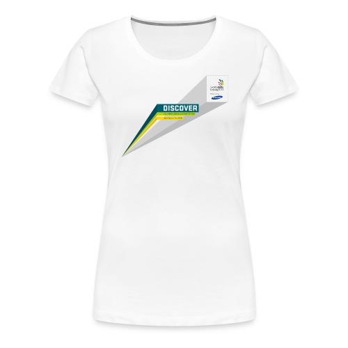 typobalken discover logo im kasten farb - Women's Premium T-Shirt