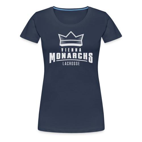 Logo Vienna Monarchs Lacrosse weiß - Frauen Premium T-Shirt