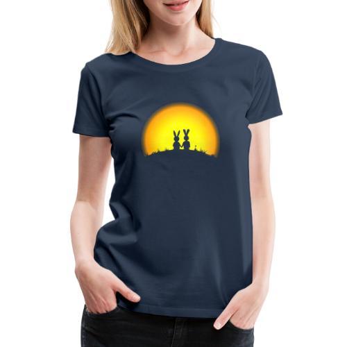 hase kaninchen Karnickel häschen bunny liebe - Frauen Premium T-Shirt