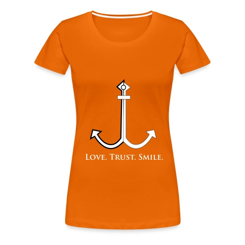 Love Trust Smile - Frauen Premium T-Shirt