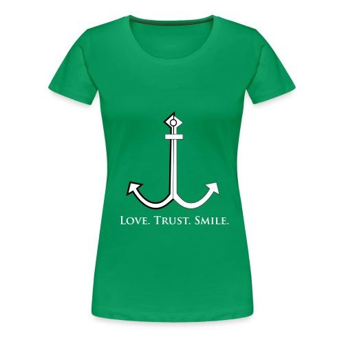 Love Trust Smile - Frauen Premium T-Shirt
