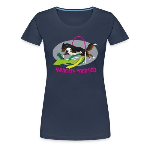 *nyd* Logo (für dunklen Untergrund) - Frauen Premium T-Shirt