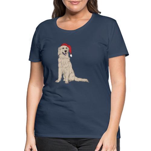 Golden Retriever Christmas - Dame premium T-shirt