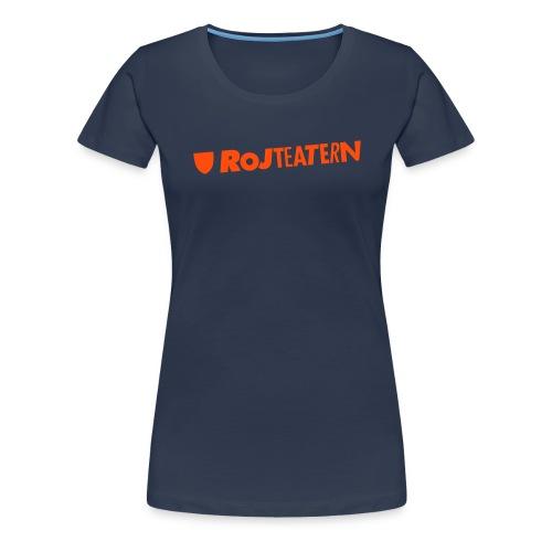 T-shirt herr logga navy/orange - Premium-T-shirt dam