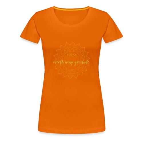 I am oveerflowing gratitude gold mandala - Frauen Premium T-Shirt
