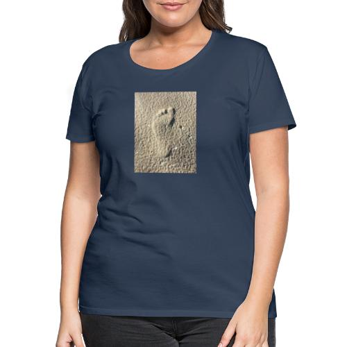 Footprint in the sand - Frauen Premium T-Shirt