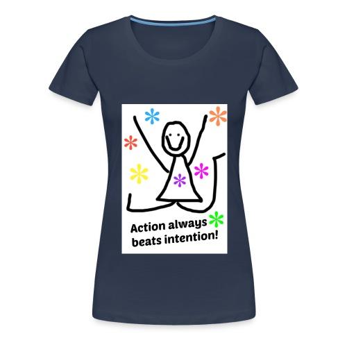 action jpg - Premium T-skjorte for kvinner