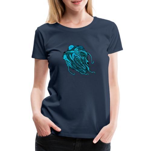 Flying blue blob - Women's Premium T-Shirt