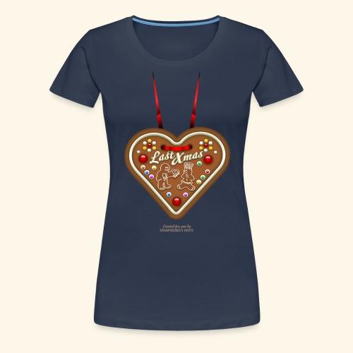 Ugly Christmas Design Last Xmas für Weihnachten - Frauen Premium T-Shirt