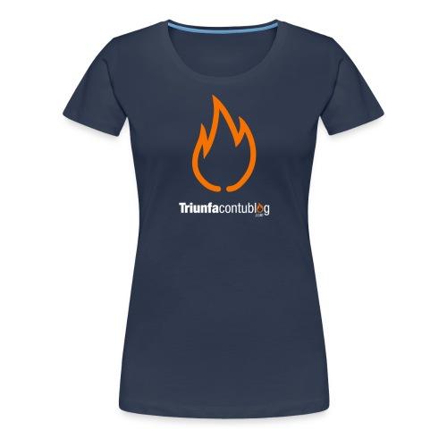 triunfacontublogcom logo fire camiseta 9 dominio - Camiseta premium mujer