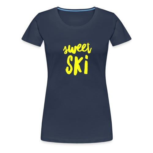 Sweet Ski Yellow - Frauen Premium T-Shirt
