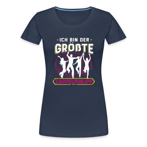 VORNE Zappelphilipp / HINTEN Konzert - Frauen Premium T-Shirt