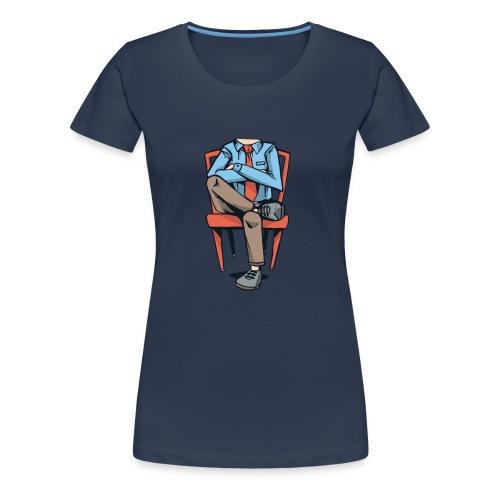 Caricatura Hombre sin Cabeza Sentado - Camiseta premium mujer