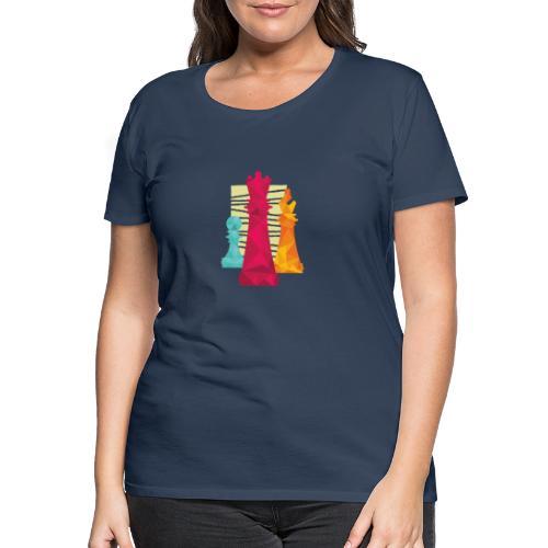 Schach Figuren Bauer König Läufer - Frauen Premium T-Shirt