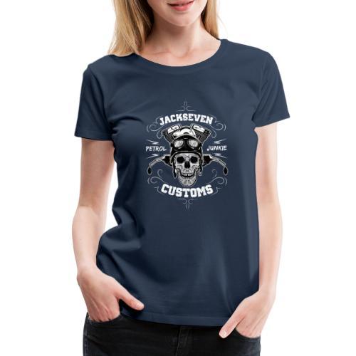 Chopper Bobber Motorrad Rocker Skull Totenkopf - Frauen Premium T-Shirt
