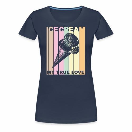 Ice Cream T-shirt Design im Vintage Look - Frauen Premium T-Shirt