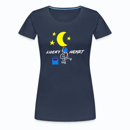 lucky heart painting the on artwork - Frauen Premium T-Shirt