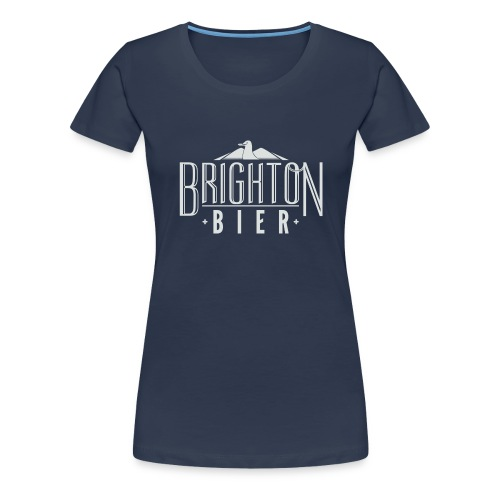 brighton bier logo white - Women's Premium T-Shirt