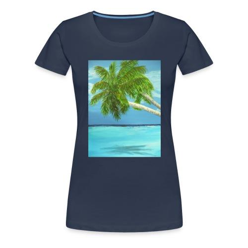 Lätzchen Palme - Frauen Premium T-Shirt